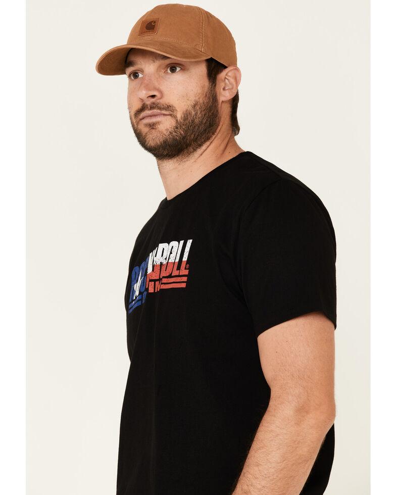 Rock & Roll Denim Men's Texas Flag Logo Graphic T-Shirt , Black, hi-res