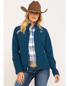 Ariat Women's Teal New Team Softshell Jacket , Navy, hi-res