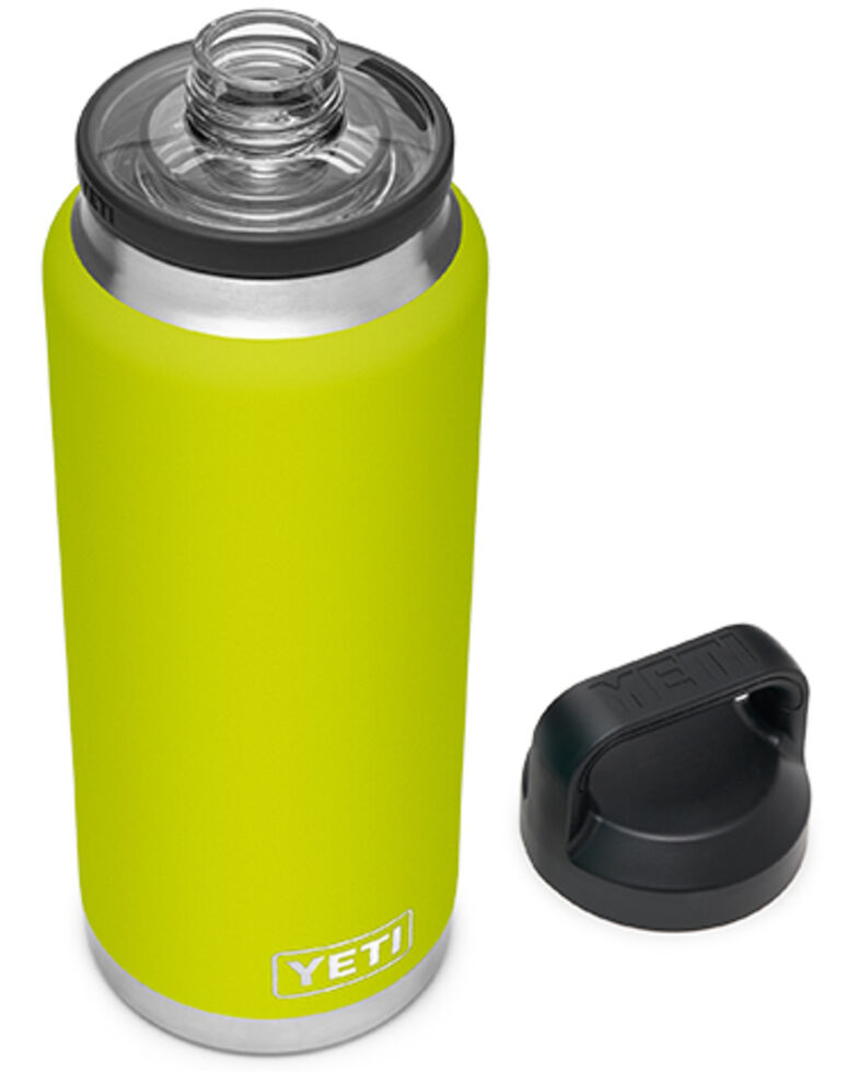 Yeti Rambler 36oz Chartreuse Chug Bottle, Red, hi-res