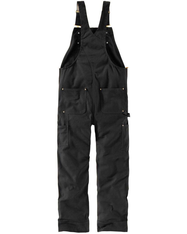 Carhartt Men's Black Duck Bib Work Overalls  , Black, hi-res