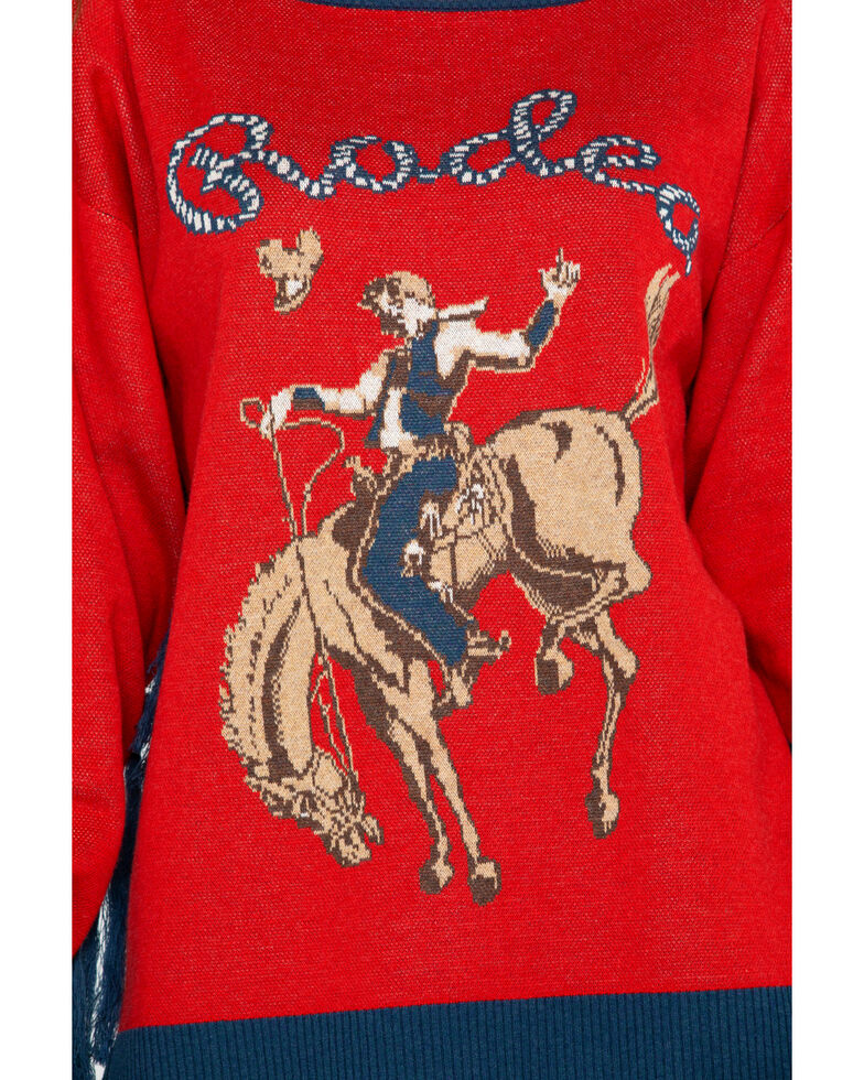 Tasha Polizzi Women's Rodeo Sweater, Red, hi-res