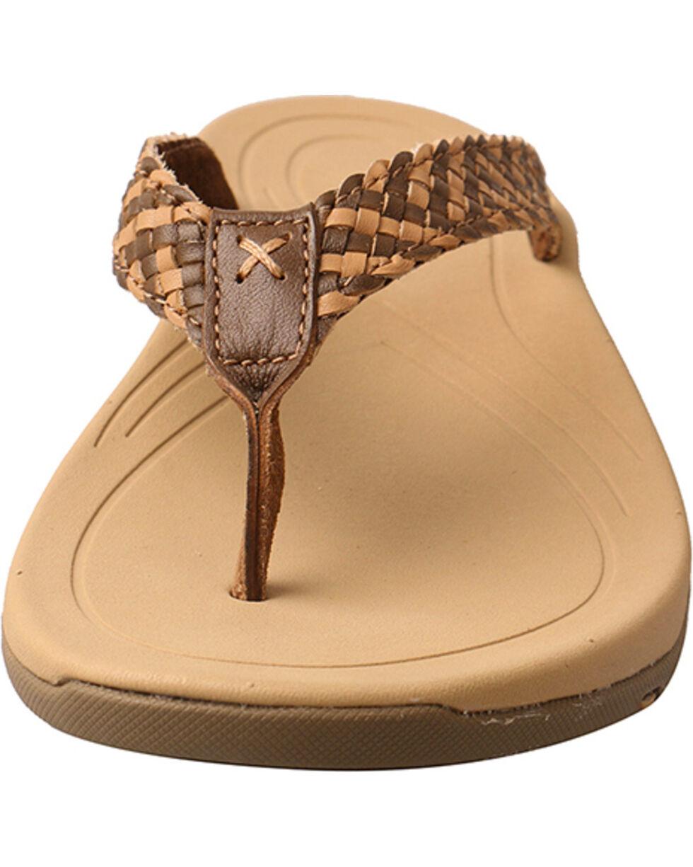 Twisted X Women's Woven Strap Sandal, Tan, hi-res