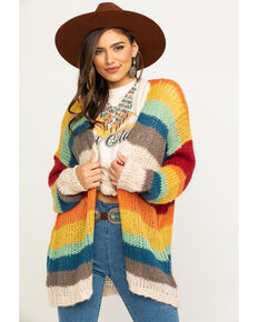 Elan Women's Rainbow Cardigan, Multi, hi-res