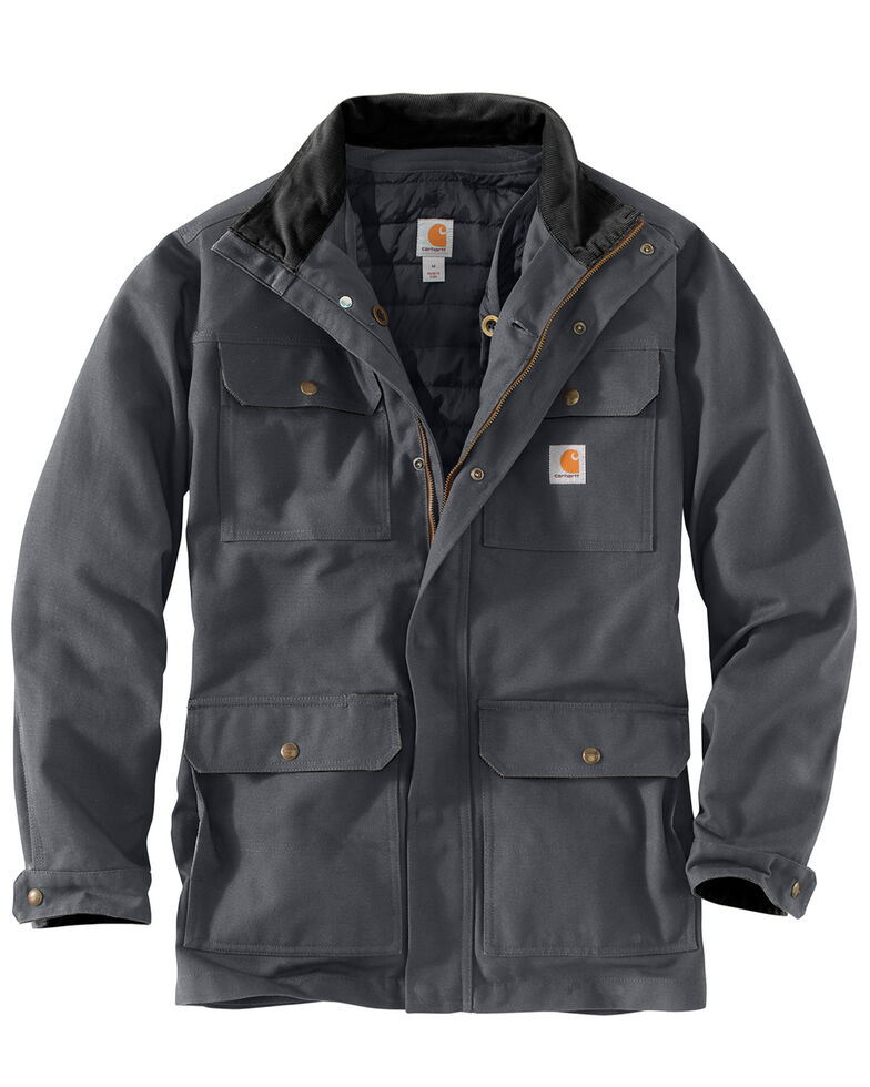 Carhartt Men's Field Coat - Tall, Dark Grey, hi-res