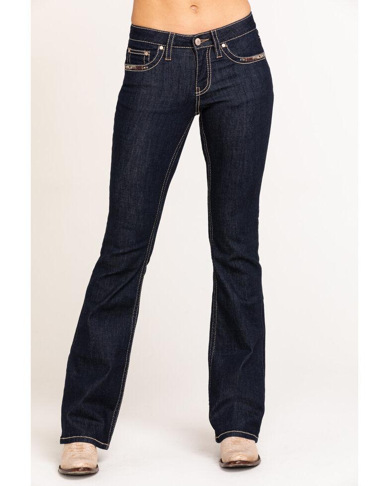 Shyanne Women's Dark Basic Bootcut Jeans , Blue, hi-res