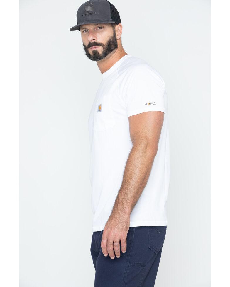 Carhartt Men's Force Cotton White Short Sleeve Shirt - Big & Tall, White, hi-res