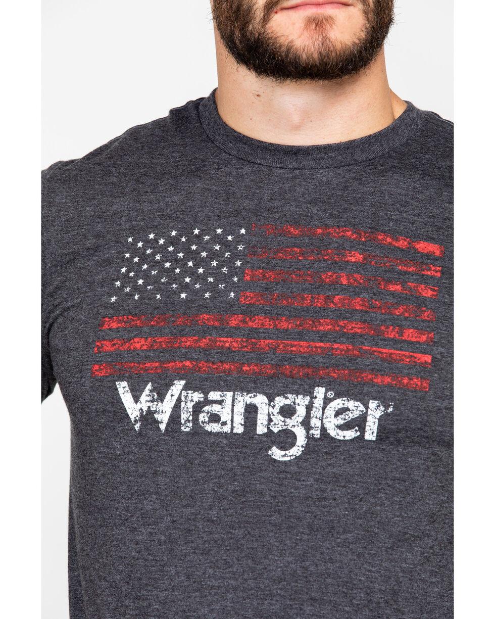 Wrangler Men's American Flag Long Sleeve, Charcoal, hi-res
