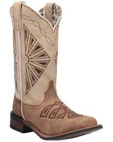 Laredo Women's Kite Days Western Boots - Wide Square Toe, Brown, hi-res