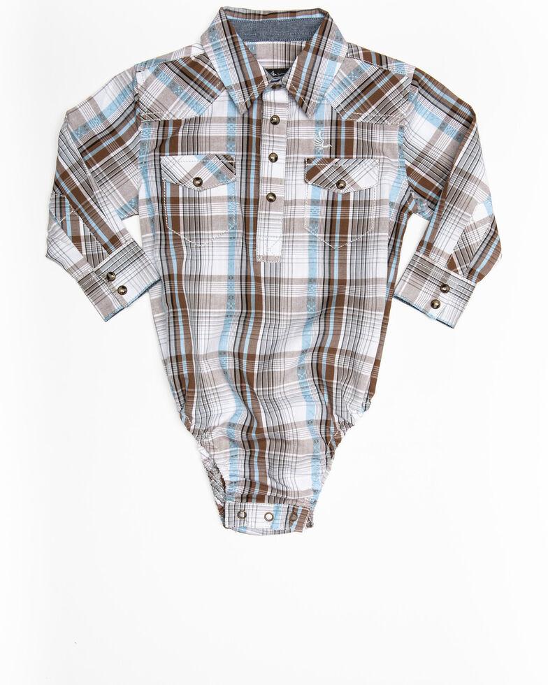 Cody James Infant Boys' Hollister Ranch Multi Plaid Long Sleeve Onesie, Multi, hi-res