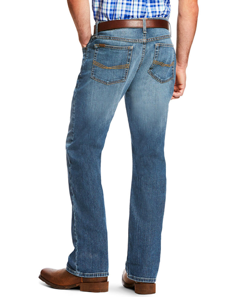 Ariat Men's Blue Low Rise M7 Legacy Stretch Drifter Jeans - Boot Cut , Blue, hi-res