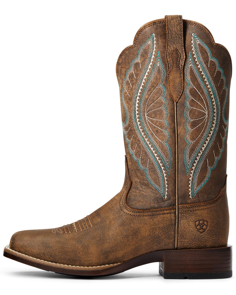 Ariat Women's Primetime Tack Western Boots - Wide Square Toe, Brown, hi-res