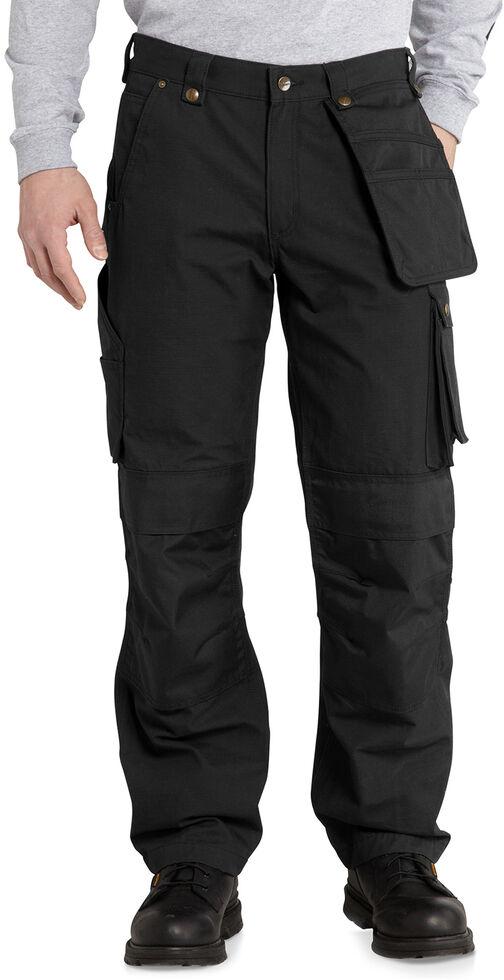 Carhartt Men's Lumberport Ripstop Work Pants, Black, hi-res