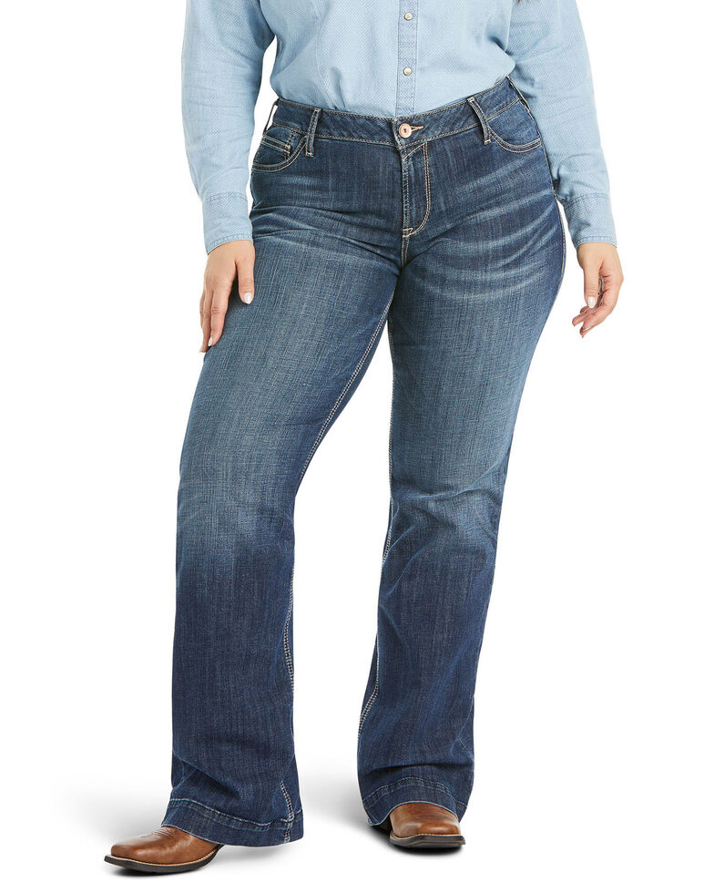 Ariat Women's Evie Trouser Jeans - Plus, Blue, hi-res