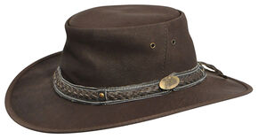 Jacaru Roo Nomad Traveler Outback Hat, Brown, hi-res