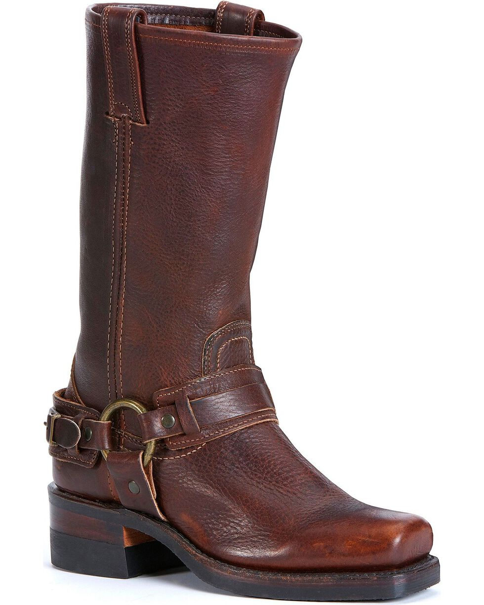 Frye Women's Belted Harness Boots, Chestnut, hi-res