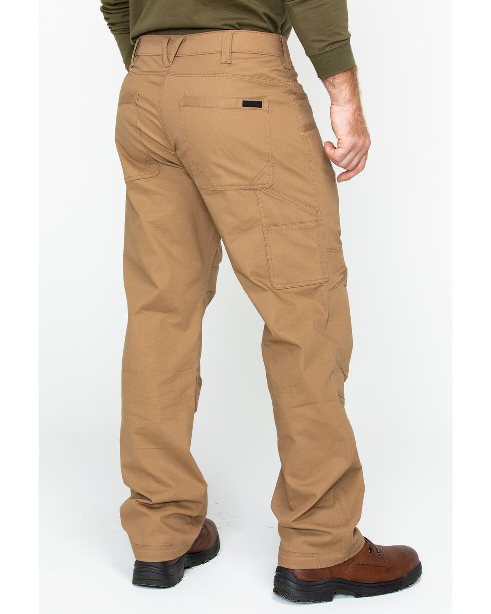 Hawx® Men's Stretch Ripstop Utility Work Pants , Brown, hi-res