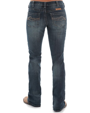 Cowgirl Tuff Women's Dark Wash Don't Fence Me In Jeans , Indigo, hi-res
