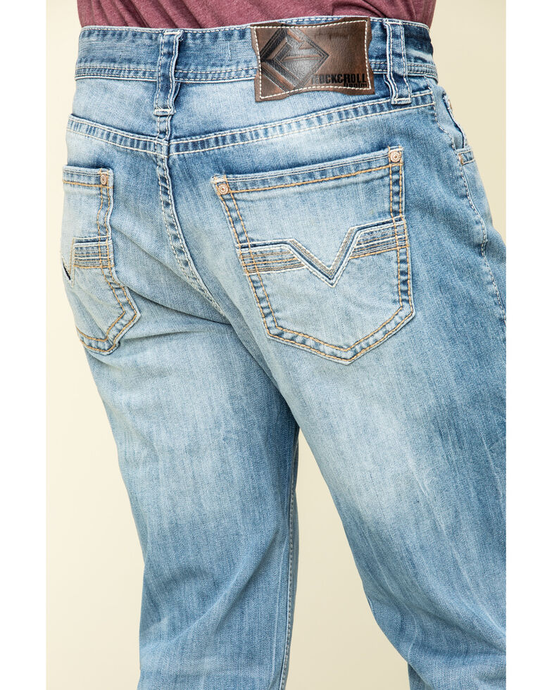 Rock & Roll Denim Men's Double Barrel Light Stretch Relaxed Straight Jeans , Blue, hi-res