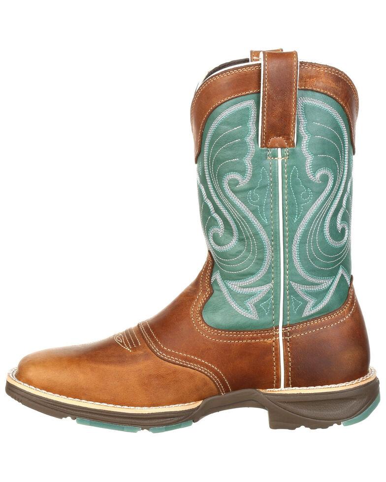 Durango Women's Emerald Saddle Western Boots - Square Toe, Brown, hi-res
