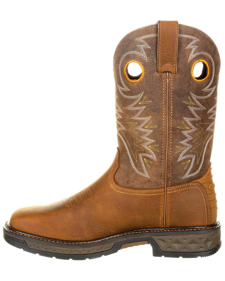 Georgia Boot Men's Carbo-Tec Western Work Boots - Square Toe, Brown, hi-res