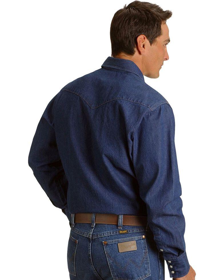 Wrangler Indigo Denim Work Shirt - Tall, Indigo, hi-res