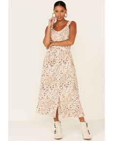 Cotton & Rye Outfitters Women's Floral Print Belted Dress, Multi, hi-res