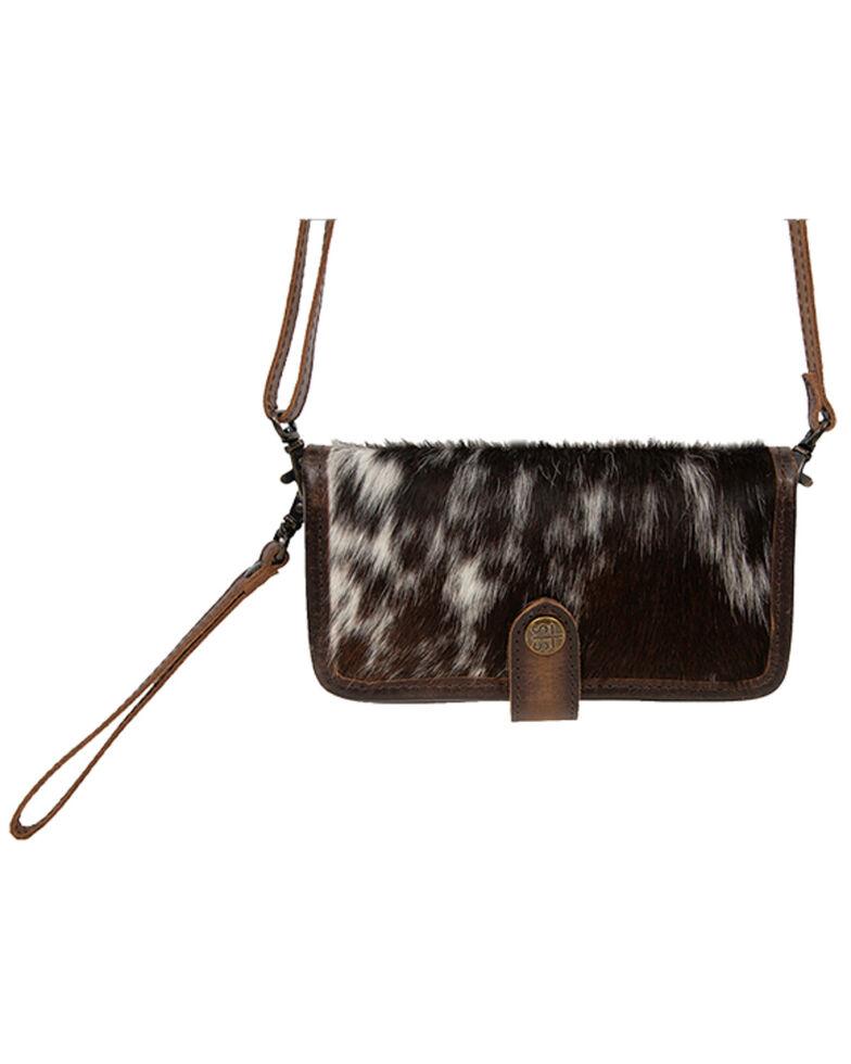 STS Ranchwear Women's Cowhide Crossbody Wallet , Black, hi-res