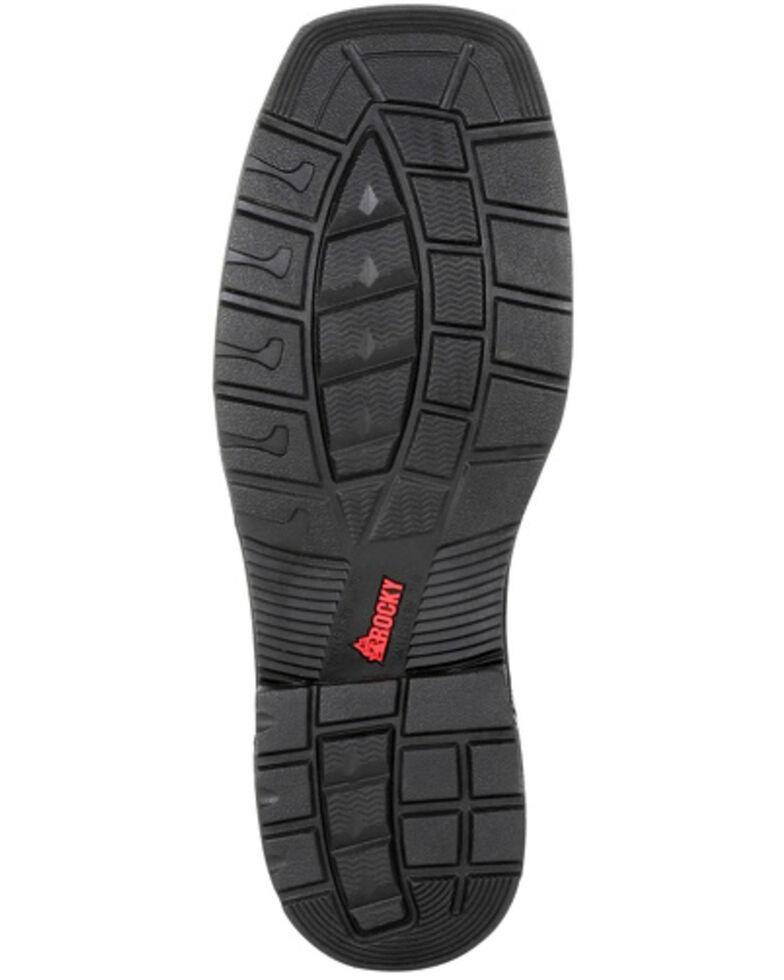 Rocky Men's Worksmart Waterproof Western Work Boots - Composite Toe, Chocolate, hi-res