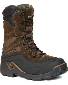Rocky Men's BlizzardStalker PRO Waterproof Insulated Boots, Brown, hi-res