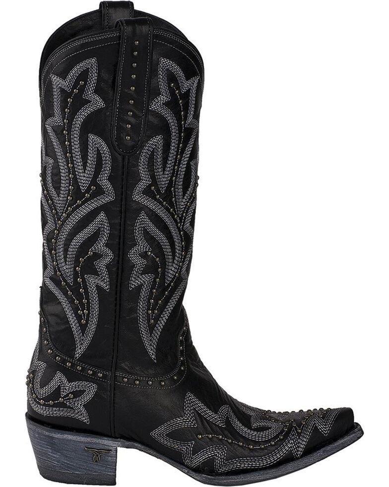 Lane Women's Saratoga Stud Cowgirl Boots - Snip Toe, Black, hi-res