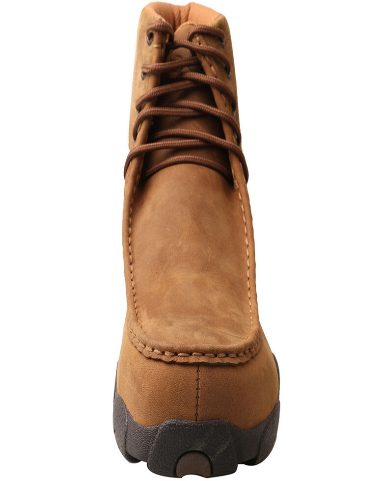 "Twisted X Men's 6"" Work Driving Moc - Alloy Toe, Brown, hi-res"