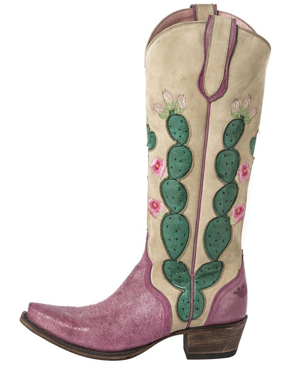 Junk Gypsy by Lane Women's Hard to Handle Western Boots - Snip Toe , Ivory, hi-res