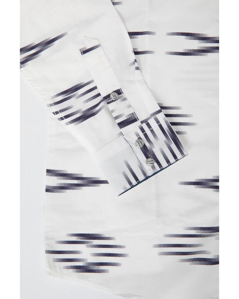 Cody James Boys' Calzona Print V-Yoke Long Sleeve Shirt , White, hi-res