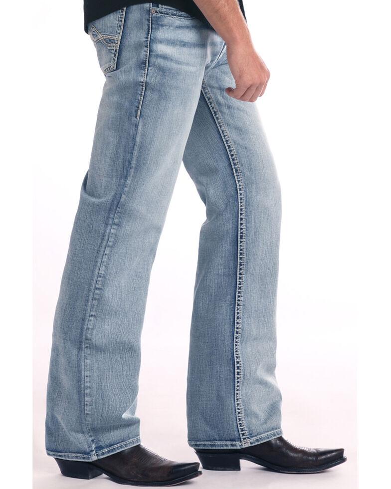 Rock & Roll Cowboy Men's Cannon Loose Light Boot Jeans , Light Blue, hi-res