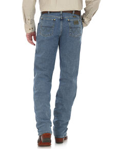 George Strait by Wrangler Men's Cowboy Cut Straight Leg Jeans - Tall , Blue, hi-res