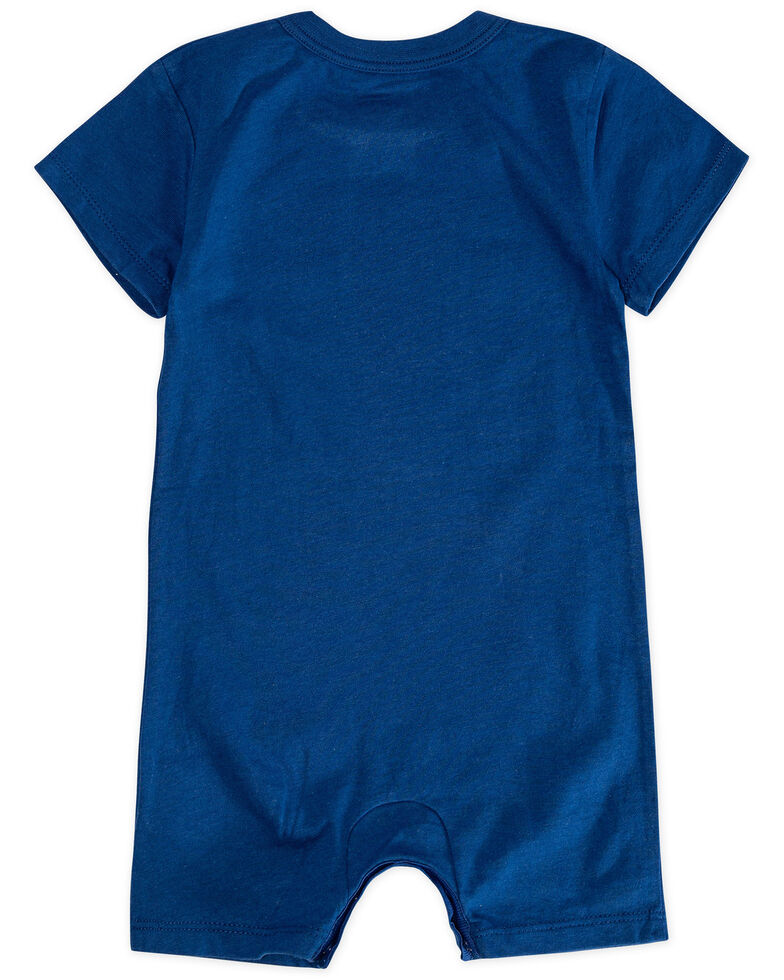 Levi's Infant Boys' Navy Bar Logo Short Sleeve Romper , Navy, hi-res