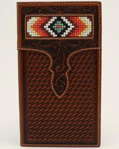 Nocona Men's Aztec Beaded Rodeo Wallet, No Color, hi-res