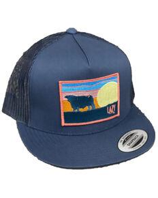 Lazy J Ranch Men's Navy Sky Logo Patch Mesh-Back Ball Cap , Navy, hi-res