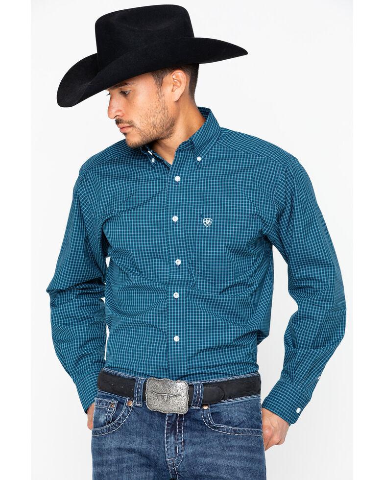 Ariat Men's Vicini Long Sleeve Shirt, Dark Blue, hi-res
