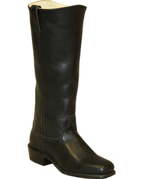 Abilene Men's Cowhide Shooter Boots - Square Toe, Black, hi-res