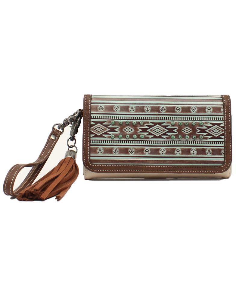Blazin Roxx Women's Aztec Clutch Wallet, White, hi-res