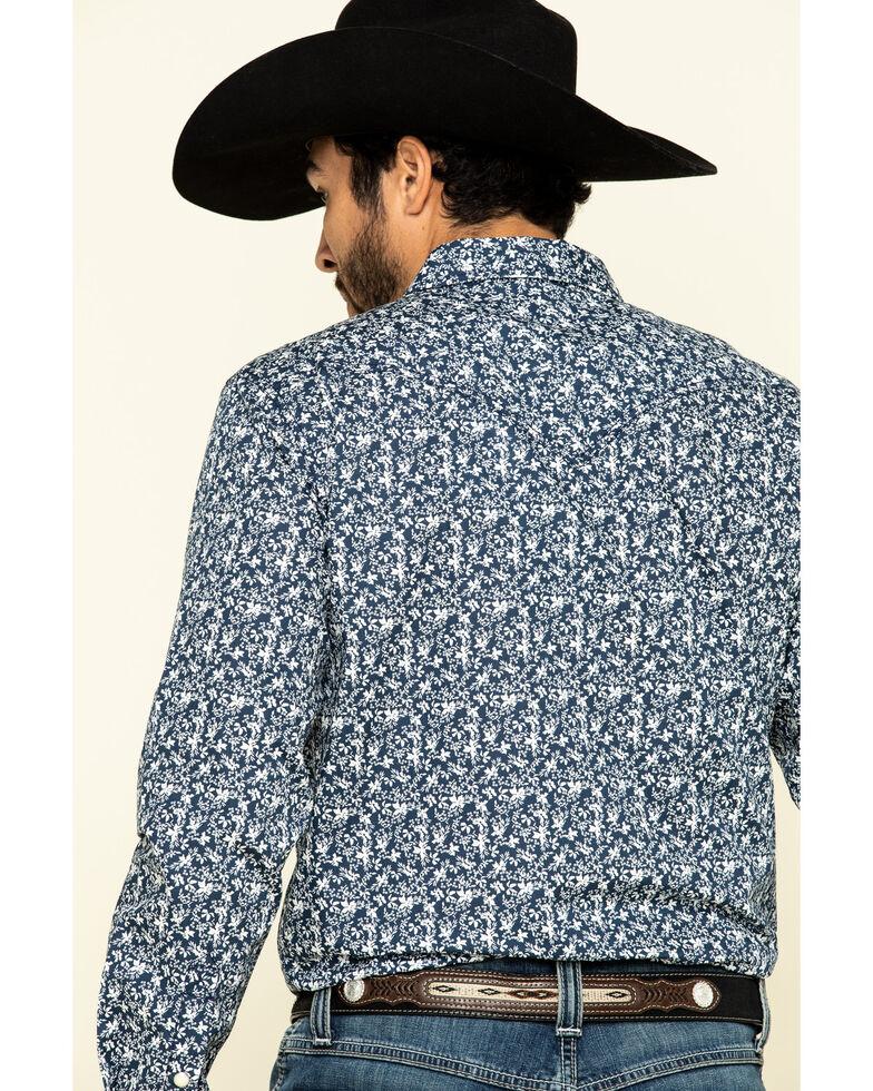 Cody James Men's Triple Crown Small Floral Print Long Sleeve Western Shirt , Navy, hi-res