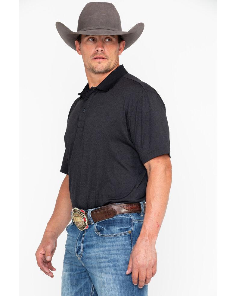 Cody James Black Short Sleeve Tech Polo Shirt , Black, hi-res