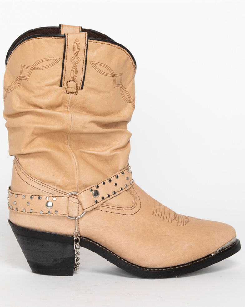 Shyanne Women's Slouch Harness Fashion Boots , Tan, hi-res