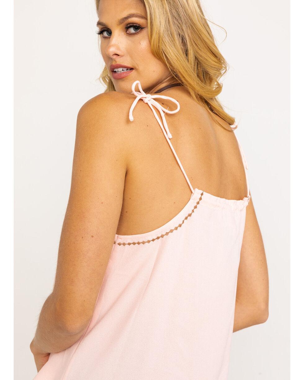 Ariat Women's Sugar Peach Tie Tank Top, Peach, hi-res