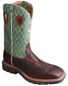 Twisted X Men's Lite Western Work Boots - Steel Toe, Multi, hi-res