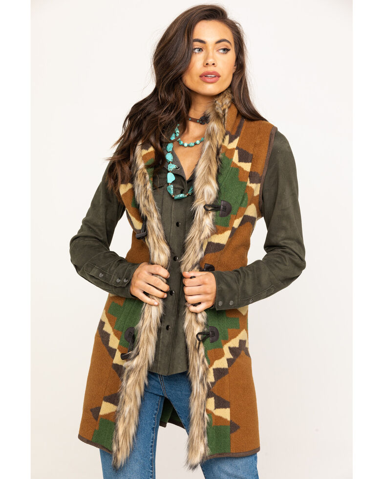 Tasha Polizzi Women's Cody Spruce Vest, Brown, hi-res