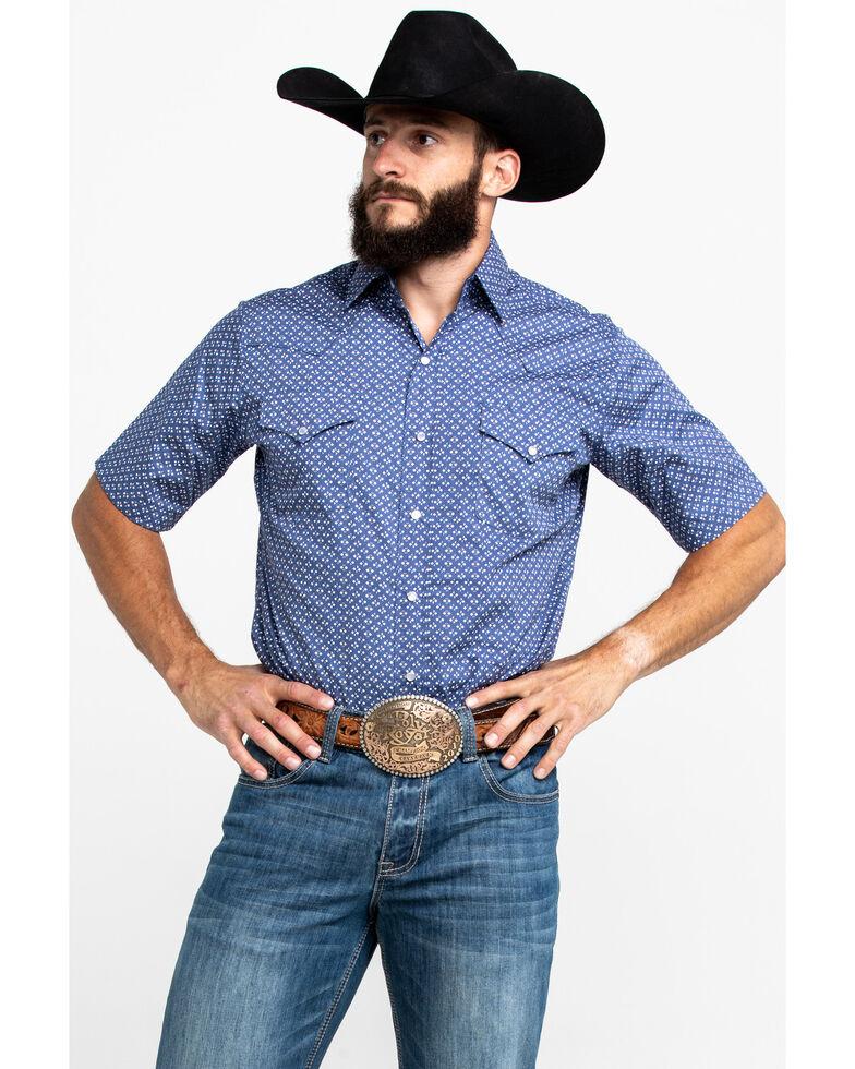 Ely Cattleman Men's Assorted Multi Geo Print Short Sleeve Western Shirt , Multi, hi-res