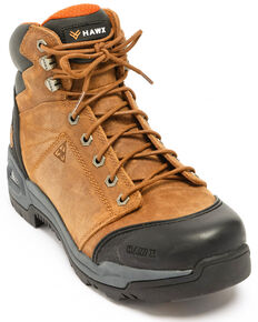 Hawx® Men's Lace To Toe Hiker Boots - Composite Toe, Brown, hi-res