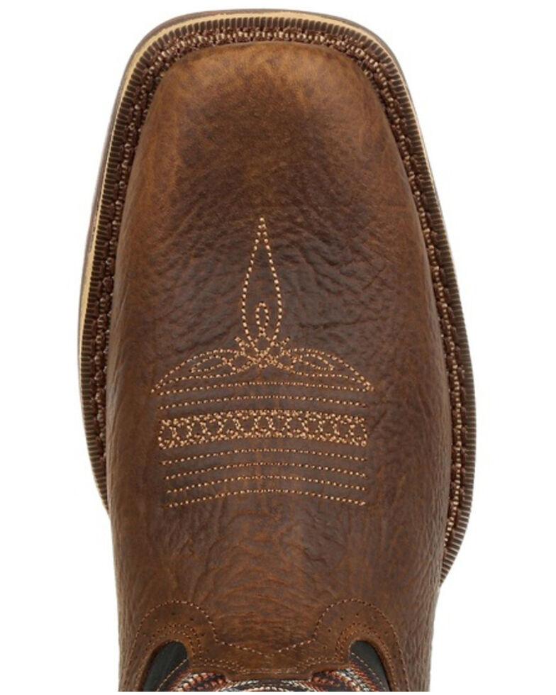 Durango Men's Rebel Chocolate Western Boots - Square Toe, Chestnut, hi-res